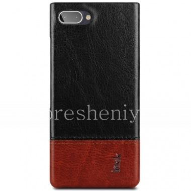 Купить Фирменный пластиковый чехол-крышка Кожаный IMAK для BlackBerry KEY2 LE