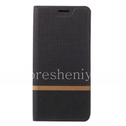 Кожаный чехол горизонтально открывающийся для BlackBerry KEY2, Черный