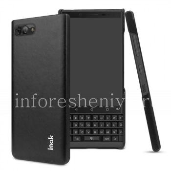 Фирменный пластиковый чехол-крышка Кожаный IMAK для BlackBerry KEY2