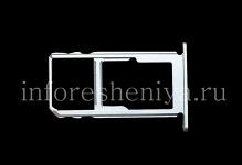 Держатель SIM-карты и карты памяти для BlackBerry KEY2, Металлик