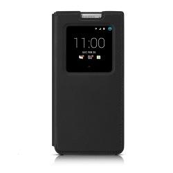 Оригинальный кожаный чехол с открывающейся крышкой Flip Case для BlackBerry KEYone, Черный (Black)