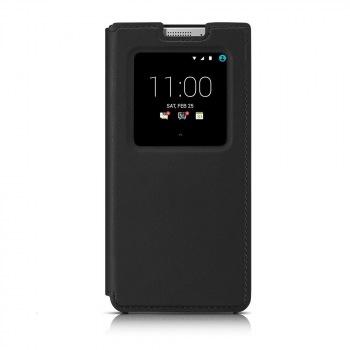 Оригинальный кожаный чехол с открывающейся крышкой Flip Case для BlackBerry KEYone