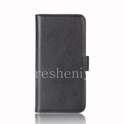 """Кожаный чехол горизонтально открывающийся """"Классика"""" для BlackBerry KEYone, Черный"""