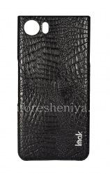 Фирменный пластиковый чехол-крышка IMAK Crocodile для BlackBerry KEYone, Черный