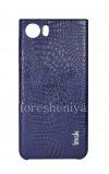 Фотография 1 — Фирменный пластиковый чехол-крышка IMAK Crocodile для BlackBerry KEYone, Темно-синий