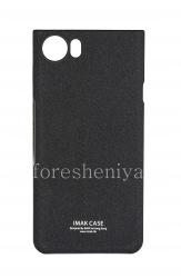 Фирменный пластиковый чехол-крышка IMAK Sandy Shell для BlackBerry KEYone, Черный (Black)