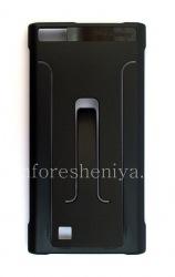 Оригинальный чехол с подставкой Flex Shell для BlackBerry Leap, Черный (Black)