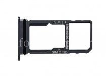 Держатель SIM-карты и карты памяти для BlackBerry Motion, Темный металлик