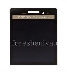 Экран LCD + тач-скрин (Touchscreen) без основы для BlackBerry P'9983 Porsche Design, Черный с серебряной панелью