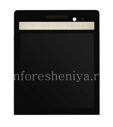 Экран LCD + тач-скрин (Touchscreen) в сборке для BlackBerry P'9983 Porsche Design, Черный с серебряной панелью