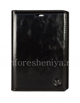 Фирменный кожаный чехол CaseMe Premium-класса с горизонтально открывающейся крышкой для BlackBerry Passport Silver Edition, Черный (Black), для Silver Edition