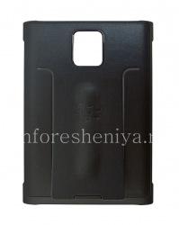 Оригинальный кожаный чехол Leather Flex Shell для BlackBerry Passport, Черный (Black)