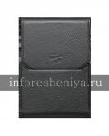Оригинальный кожаный чехол с клипсой Leather Swivel Holster для BlackBerry Passport, Черный (Black)