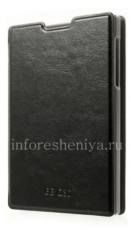 Кожаный чехол горизонтально открывающийся с функцией подставки Diary для BlackBerry Passport, Черный
