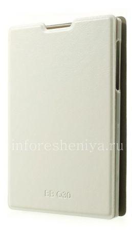 Кожаный чехол горизонтально открывающийся с функцией подставки Diary для BlackBerry Passport, Белый