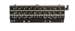conjunto de teclado ruso con la junta y el elemento sensor para BlackBerry Passport (grabado), Negro (negro)