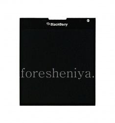 Экран LCD + тач-скрин (Touchscreen) в сборке для BlackBerry Passport, Черный, тип 003/111