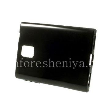 Силиконовый чехол уплотненный однотонный для BlackBerry Passport