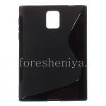 Funda de silicona para BlackBerry compacta Streamline Passport, Negro