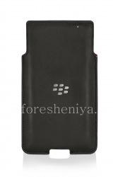 Оригинальный кожаный чехол-карман Leather Pocket для BlackBerry Priv, Черный (Black)