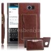 Фотография 1 — Кожаный чехол-крышка для BlackBerry Priv, Коричневый