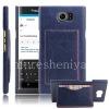 Фотография 1 — Кожаный чехол-крышка для BlackBerry Priv, Синий