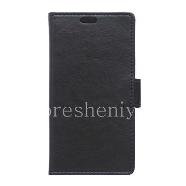 Купить Кожаный чехол горизонтально открывающийся с функцией подставки для BlackBerry Priv