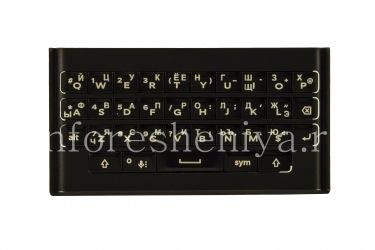 Русская клавиатура с держателем для BlackBerry Priv (гравировка), Черный