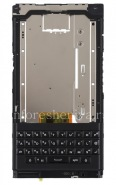 Middle part of housing in the fully assembled with a keyboard, a speaker, a microphone and a loop side buttons for BlackBerry Priv, The black