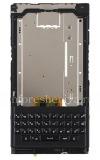 Фотография 1 — Средняя часть корпуса в полной сборке с клавиатурой, динамиком, микрофоном и шлейфом боковых кнопок для BlackBerry Priv, Черный