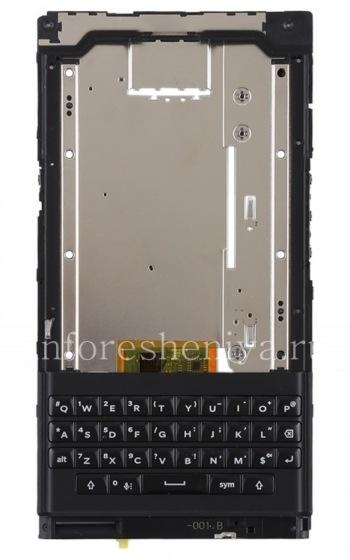 Средняя часть корпуса в полной сборке с клавиатурой, динамиком, микрофоном и шлейфом боковых кнопок для BlackBerry Priv