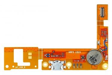 Der Chip-Mainboard mit USB-Anschluss und das Mikrofon für Blackberry-Z3