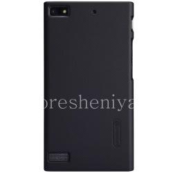 Фирменный пластиковый чехол-крышка Nillkin Frosted Shield для BlackBerry Z3, Черный
