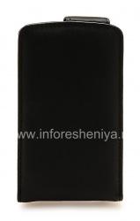Фирменный кожаный чехол с вертикально открывающейся крышкой Doormoon для BlackBerry 8300/8310/8320 Curve, Черный, мелкая текстура
