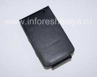 Оригинальный кожаный чехол вертикально открывающийся Wallet Case для BlackBerry 8300/8310/8320 Curve, Черный (Black)