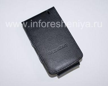 Купить Оригинальный кожаный чехол вертикально открывающийся Wallet Case для BlackBerry 8300/8310/8320 Curve