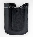 Оригинальный кожаный чехол-карман Vinyl Pocket Case для BlackBerry 8300/8310/8320 Curve, Черный (Black)