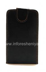 Кожаный чехол с вертикально открывающейся крышкой для BlackBerry 8520/9300 Curve, Черный