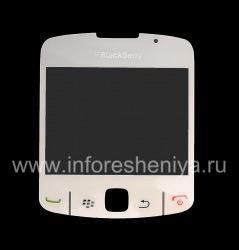 Die ursprüngliche Glasschirm für Blackberry 8520 Curve, Weiß (Perlen-Weiß)