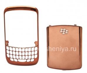 Color umzimba (ezingxenyeni ezimbili) for BlackBerry 8520 Ijika, bronze Dark, chrome