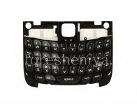 Оригинальная английская клавиатура с подложкой для BlackBerry 8520 Curve, Черный