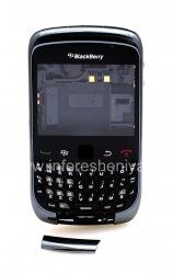 Оригинальный корпус для для BlackBerry 9300 Curve 3G, Темный металлик (Charcoal)