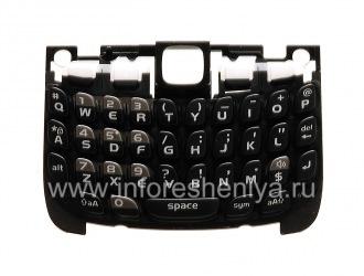 原来的英文键盘与BlackBerry 9300曲线3G的衬底, 黑