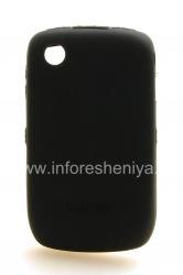 品牌硅胶套Incipio DermaShot BlackBerry 8520 / 9300曲线, 黑(黑)