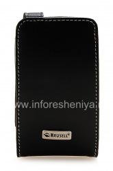 Фирменный кожаный чехол Krusell Orbit Flex Multidapt Leather Case для BlackBerry 8520/9300 Curve, Черный (Black)