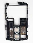 Средняя часть корпуса с динамиками для BlackBerry 8800/8820/8830, Черный