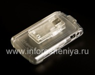 Фирменный пластиковый чехол + кобура Speck SeeThru Case для BlackBerry 8800/8820/8830, Прозрачный