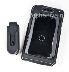 Фирменный силиконовый чехол с клипсой Wireless Xcessories Carrying Skin Case with Belt Clip для BlackBerry 8800/8820/8830, Черный (Black)