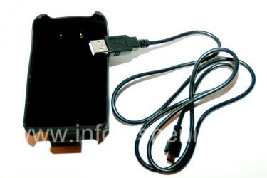 Чехол-аккумулятор с клипсой для BlackBerry 8900 Curve, Черный матовый