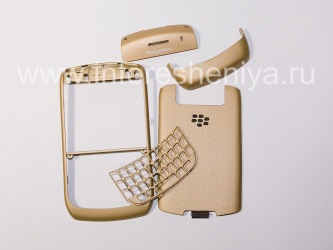 Colour housing for BlackBerry Curve 8900, Gold Brushed